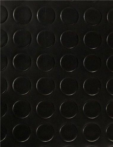 Suelo Vinílico PVC Circulos Negro