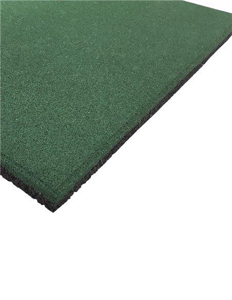 Loseta de Caucho Profesional Grano Fino 50x50cm - Verde