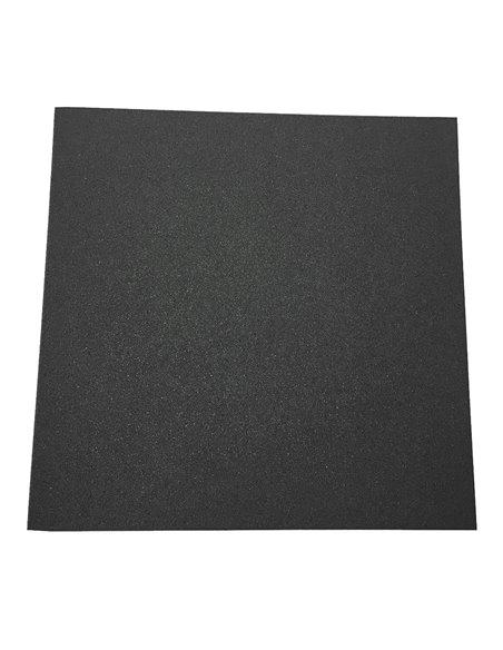 Loseta de Caucho Negra de Granulado Fino