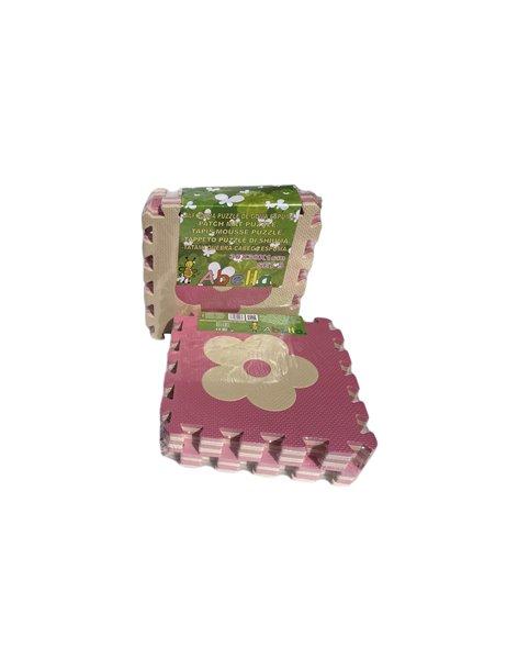 Pack x9 - Loseta de Tatami Puzzle - Rosa/Beige