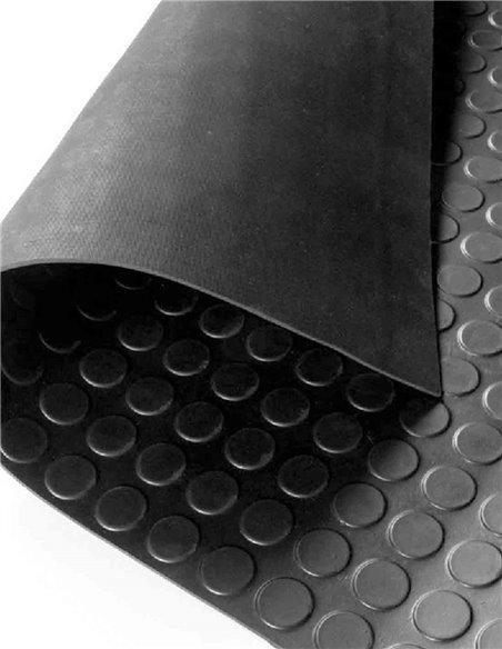 Suelo Goma Circulo Negro - Rollo 3 mm 15 x 1 m